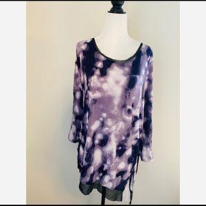Vera Wang Tie-Dye Print Long-sleeve Size X1